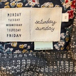 Anthropologie Sweaters - Saturday Sunday Anthro Grey & Beige Cardigan